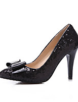 Women's Shoes Stiletto Heel Pointed Toe Pumps/Heels Office & Career/Dress Black/Silver