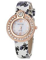 la montre de poignet pu analogique bande de quartz des femmes (couleurs assorties)