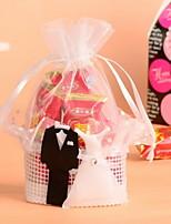 Niet-gepersonaliseerde - Bruiloft/Verjaardag/Bridal Shower Bedank Tassen ( Wit , Organza/Geweven stof )