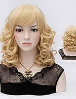 European Style Fashion Hair Pale Gold High Quality Synthetic Wigs