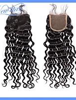 cabello saludable nueva estrella peruana despedida libre onda virginal del pelo humano profundo nudos blanqueados 4 * 4 del encierro del