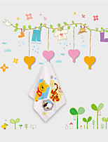 Wall Stickers Wall Decals , Creative Cartoon Sticker with 4 Hooks