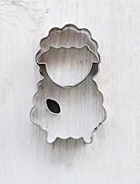3 forma em peças carneiros dos desenhos animados cortadores de biscoito estabelecidos moldes frutas cortadas em aço inoxidável