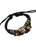 Women's  Casual Leather Bracelet Braided Beads Bracelet Fashion  Individuality Bracelet  PS0145