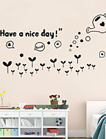 Wall Stickers Wall Decals Style Have A Nice Day English Words & Quotes PVC Wall Stickers