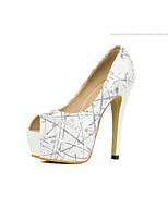 Women's Shoes  Stiletto Heel Heels/Peep Toe Pumps/Heels Office & Career/Casual Black/White