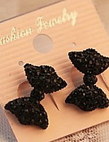 Women's Fashion Cute Black Butterfly Bow Earrings
