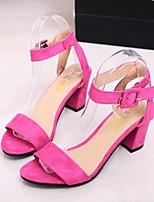 Women's Shoes Chunky Heel Heels/Open Toe Sandals Outdoor/Office & Career/Dress/Casual Multi-color