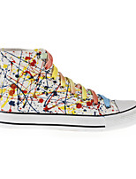 Hand-painted Canvas Shoes Outdoo/Athletic/Casual Canvas Fashion Sneakers/Athletic Shoes Blue/Yellow/Red/White