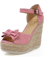 Women's Shoes Fabric Wedge Heel Peep Toe Sandals Dress More Colors Available