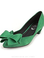 Women's Shoes Velvet Kitten Heel Heels Pumps/Heels Wedding/Casual Black/Green/Red