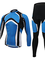 WEST BIKING® Breathable Men's MTB Clothing Suit Wicking Curved Blue Cycling Long Suit Long Sleeves Long Pants
