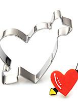 amor forma de flecha cortadores de galletas de San Valentín fijados moldes de corte de fruta de acero inoxidable