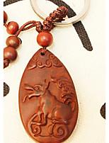 acajou petit ornement en bois sculpté cadeau en bois paix accrocher zodiaque chinois