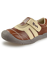 Baby boys Shoes Outdoor/Casual Faux Leather Fashion Sneakers Brown/Yellow/Navy
