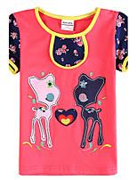 Camiseta Chica de - Verano - Algodón - Manga Corta