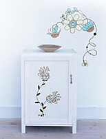 Wall Stickers Wall Decals Style Decorative Flower PVC Wall Stickers