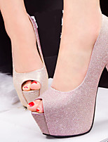Women's Shoes Leatherette Stiletto Heel Heels/Peep Toe Pumps/Heels Casual Multi-color