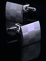 Toonykelly® Fashion Silver Plated Lattice Men Handsome Shirt Cufflink Button(1 Pair)