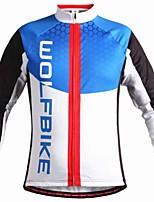 Tops/Chaqueta/Sudadera/Paravientos/Chaquetas de Lana ( Azul ) - de Deportes recreativos/Ciclismo/Downhill/Running -Resistente al