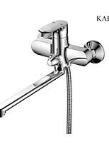 Brass Chromed Bathroom Shower Set Faucet  Wall Mounted Shower Mixer Faucet