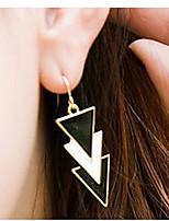 European Triangle Golden Alloy Stud Earrings