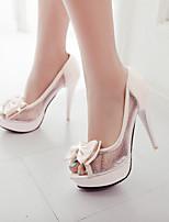 Women's Shoes Stiletto Heel Heels/Open Toe Sandals Dress Black/Red/Beige