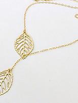 Golden Leaves Tassel Necklaces