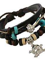 Women's Casual Leather Bracelet Beaded Bracelet Pendant Bracelet PS0182