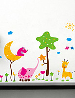 Wall Stickers Wall Decals Style Cartoon Elephant PVC Wall Stickers