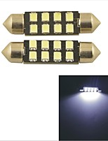 Carking™ Car Internal 2835-39mm-8SMD Festoon Dome Light-White Light(2PCS)