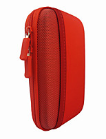 Protective Shockproof Storage Bag Case for 2.5 Inch Hard Disk Drive / Mobile Power / USB / SD Card - Red
