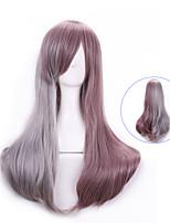 Personalità fascino 68 centimetri moda popolari marrone chiaro misti lungo rettilineo parrucca harajuku anime cosplay parrucche della