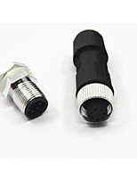 inst connecteur étanche m12 7 broches panneau arrière masculins et féminins câble
