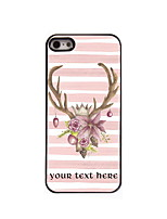 Personalized Gift Lovely Elk Design Aluminum Hard Case for iPhone 4/4S