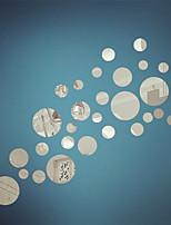 etiquetas de la pared de espejo pegatinas de pared, bricolaje círculo espejo pegatinas de pared de acrílico