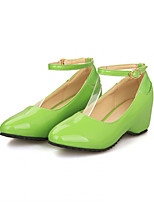 Girls' Shoes Casual Heels/Round Toe  Pumps/Heels Black/Green/Purple/Red Gifts (insoles, laces, shoe, socks, color stone