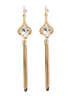 Women's  Fashion Elegant Zircon Tassel Long Stud Earrings HJ0071