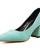 Women's Shoes  Chunky Heel Heels/Platform/Pointed Toe/Closed Toe Pumps/Heels Casual Black/Green/Red/Gray