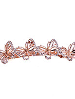 Fashion Woman's Elegant Crystal Butterfly Hairpin FMFJ054