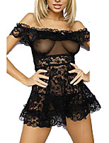 Women's Sexy Lace Transparent Babydoll