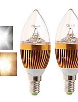 2 Stück Ding Yao Kerzenlampen E14 15 W 400-450 LM 2800-3500/6000-6500 K 5LED COB Warmes Weiß/Kühles Weiß AC 85-265 V