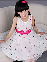 Girl's Summer Sleeveless Korean Style Floral Dresses