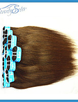 Wholesale Brazilian Human Hair Straight Style 2Kg Brown Color Grade5A Human Hair Extensions