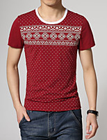 Men's Fashion Print Slim Short Sleeved T-Shirts
