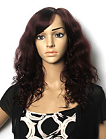 European and American Fashion High Quality Wine Red Curly Hair Wig
