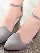 Women's Shoes Chunky Heel Pointed Toe Pumps/ Dress Black/Pink/Gray