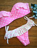 Women's Push-up/Underwire Bra Dot Bikinis (Nylon)
