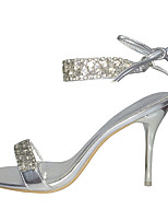 Women's Shoes  Slingback/Ankle Strap Sandals Wedding/Office & Career/Party & Evening/Dress/Casual Silver