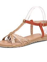 Women's Shoes  Flat Heel Open Toe Flats Outdoor/Office & Career/Casual Green/Orange
